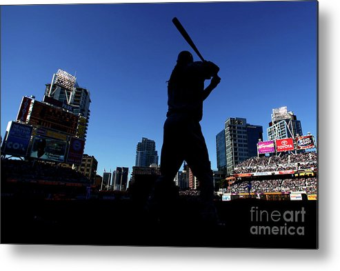 Opening Ceremony Metal Print featuring the photograph Los Angeles Dodgers V San Diego Padres by Donald Miralle