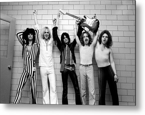 Tom Hamilton Metal Print featuring the photograph Photo Of Aerosmith And Tom Hamilton And by Fin Costello