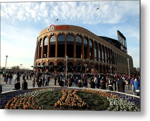 Residential District Metal Print featuring the photograph San Diego Padres V New York Mets by Ezra Shaw