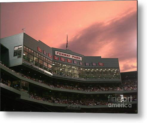 American League Baseball Metal Print featuring the photograph Toronto Blue Jays V Boston Red Sox by Elsa