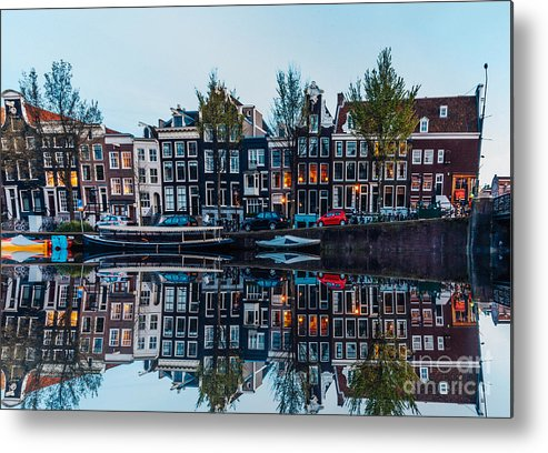 Arch Metal Print featuring the photograph Typical Dutch Houses Reflections by Serts