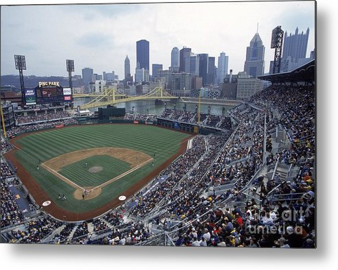 Pnc Park Metal Print featuring the photograph View Of Stadium by Jamie Squire