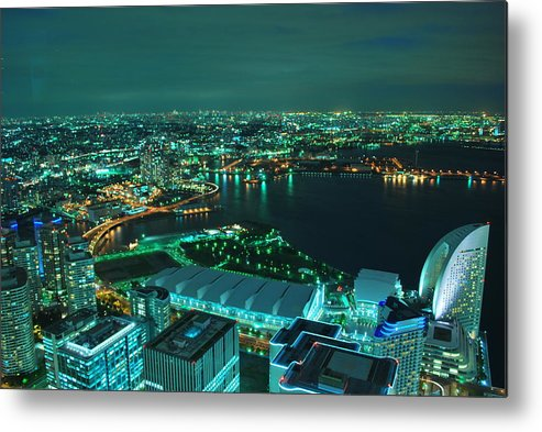 Yokohama Metal Print featuring the photograph Yokohama by Copyright Artem Vorobiev