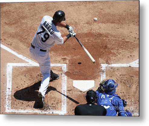 American League Baseball Metal Print featuring the photograph Kansas City Royals V Chicago White Sox by Jonathan Daniel