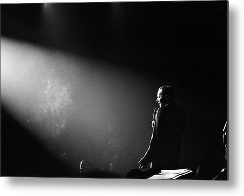 Timeincown Metal Print featuring the photograph Entertainer Frank Sinatra Performing On by John Dominis