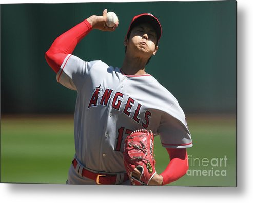Second Inning Metal Print featuring the photograph Los Angeles Angels Of Anaheim V by Thearon W. Henderson