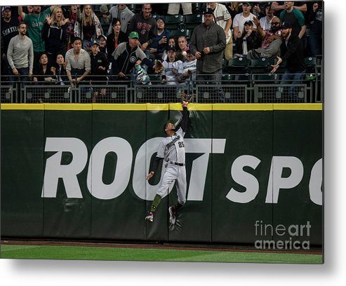 People Metal Print featuring the photograph Minnesota Twins V Seattle Mariners by Stephen Brashear