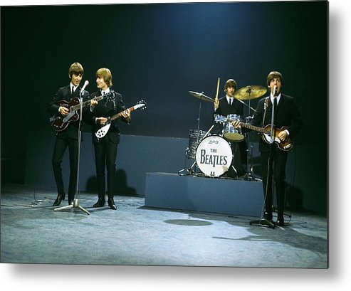 People Metal Print featuring the photograph Photo Of Beatles by David Redfern