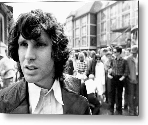 Horizontal Metal Print featuring the photograph Photo Of Jim Morrison by Michael Ochs Archives