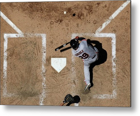 Héctor Sánchez Metal Print featuring the photograph San Francisco Giants V Arizona by Christian Petersen