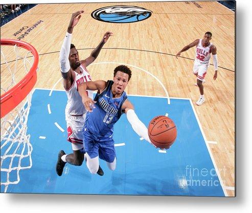Nba Pro Basketball Metal Print featuring the photograph Chicago Bulls V Dallas Mavericks by Glenn James
