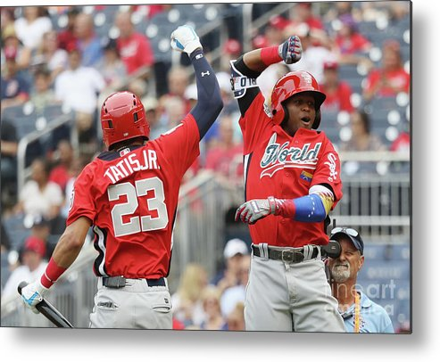 Three Quarter Length Metal Print featuring the photograph Siriusxm All-star Futures Game by Rob Carr
