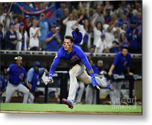 People Metal Print featuring the photograph Chicago Cubs V San Diego Padres by Denis Poroy