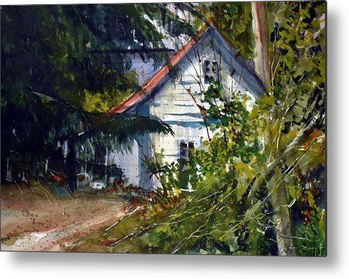 Farm Metal Print featuring the painting Abandoned II by Charles Rowland