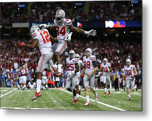 Celebration Metal Print featuring the photograph All State Sugar Bowl - Alabama V Ohio by Streeter Lecka