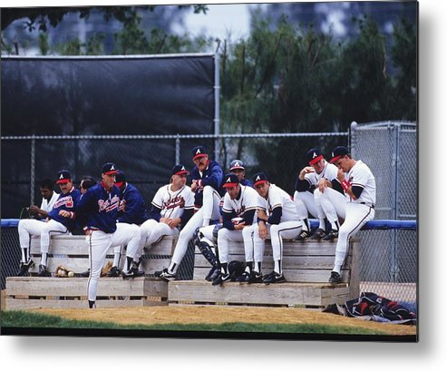Florida Metal Print featuring the photograph Atlanta Braves by Ronald C. Modra/sports Imagery