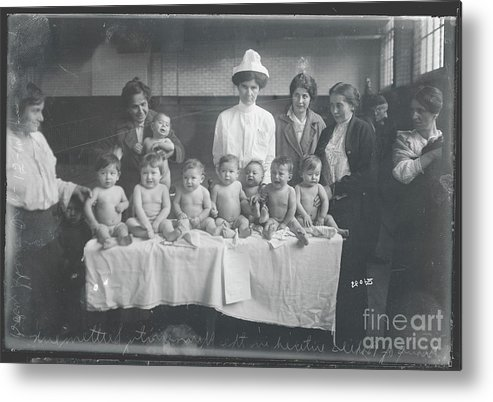 People Metal Print featuring the photograph Babies Entering Contest by Bettmann