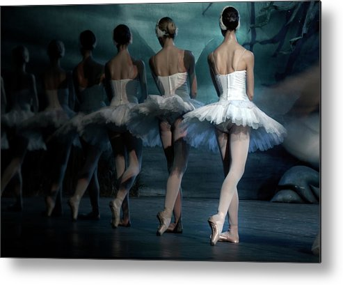 Expertise Metal Print featuring the photograph Ballerinas by Tunart