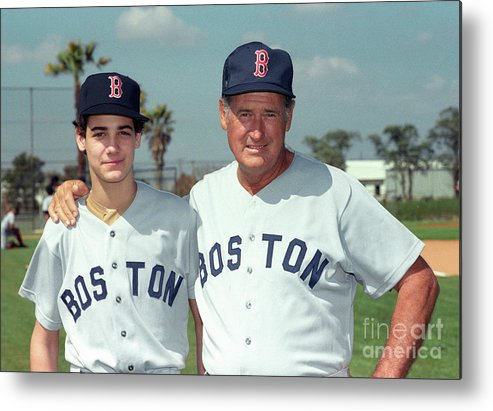 People Metal Print featuring the photograph Baseball - Ted Williams - File Photo by Icon Sports Wire