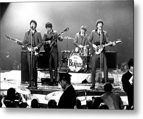 Rock Music Metal Print featuring the photograph Beatles Perform In Washington, D.c by Michael Ochs Archives