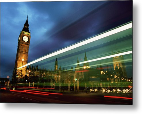 Gothic Style Metal Print featuring the photograph Big Ben And The Houses Of Parliament by Allan Baxter