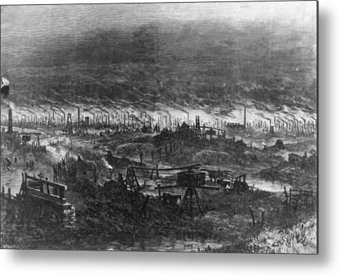 England Metal Print featuring the digital art Black Country by Hulton Archive