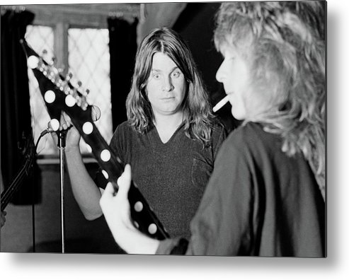 Horizontal Metal Print featuring the photograph Blizzard Of Ozz Sessions by Fin Costello