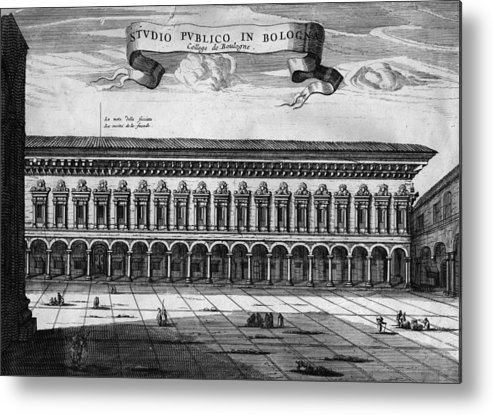 Education Metal Print featuring the digital art Bologna University by Hulton Archive