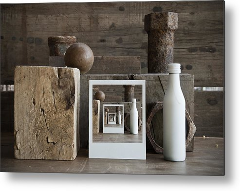 Bodegon Metal Print featuring the photograph Brown Still Life by Chechi Peinado