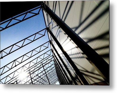 Shadow Metal Print featuring the photograph Building Abstract by Maximgostev