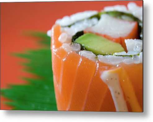 Asian And Indian Ethnicities Metal Print featuring the photograph Colorful Sushi by Creativeye99