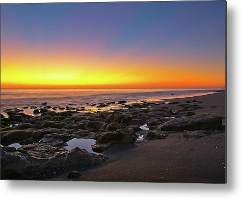 Nautical Metal Print featuring the photograph Coral Cove Nautical Twilight by Steve DaPonte