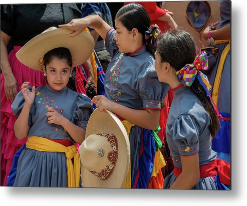 Cowgirls Metal Print featuring the photograph Cowgirls and Their Sombreros by Dane Strom