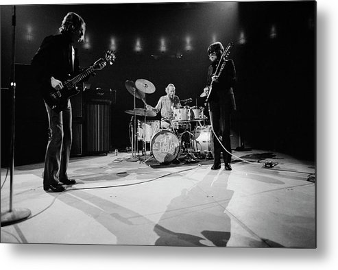 Music Metal Print featuring the photograph Cream At Madison Square Garden by Michael Ochs Archives