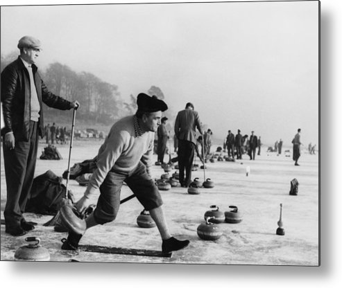 People Metal Print featuring the photograph Curling On Loch Leven by Keystone