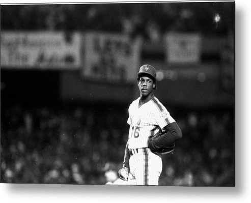 Dwight Gooden Metal Print featuring the photograph Dwight Goodens First World Series Game by New York Daily News Archive