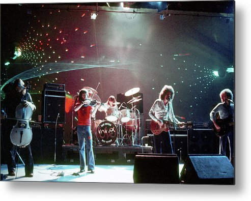 Performance Metal Print featuring the photograph Electric Light Orchestra Performing by Michael Ochs Archives