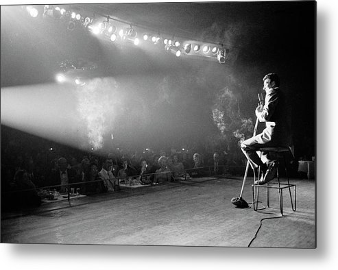 Timeincown Metal Print featuring the photograph Entertainer Dean Martin On Stage by Allan Grant