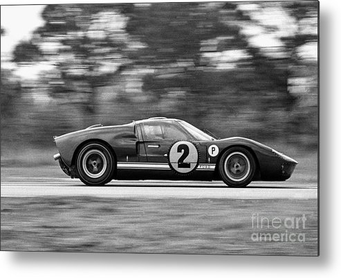 People Metal Print featuring the photograph Ford Prototype Racecar On Track by Bettmann