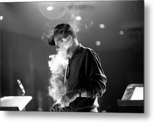 Frank Sinatra Metal Print featuring the photograph Frank Sinatra During Rehearsals by John Dominis