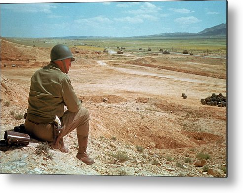 Timeincown Metal Print featuring the photograph General Patton In The Desert by Eliot Elisofon