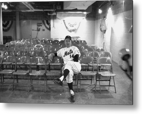 American League Baseball Metal Print featuring the photograph Gil Hodges Of The 1969 New York Mets by New York Daily News Archive
