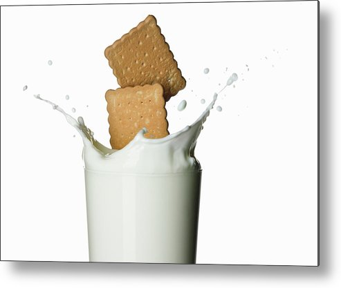 Milk Metal Print featuring the photograph Glass Of Milk by Buena Vista Images