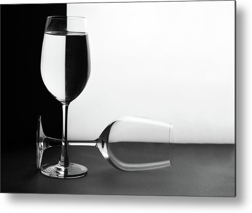 Alcohol Metal Print featuring the photograph Glasses by Photo By Bhaskar Dutta