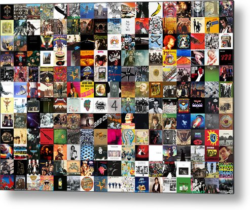 Album Covers Metal Print featuring the digital art Greatest Rock Albums of All Time by Zapista OU