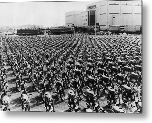 In A Row Metal Print featuring the photograph Honda Works by Keystone
