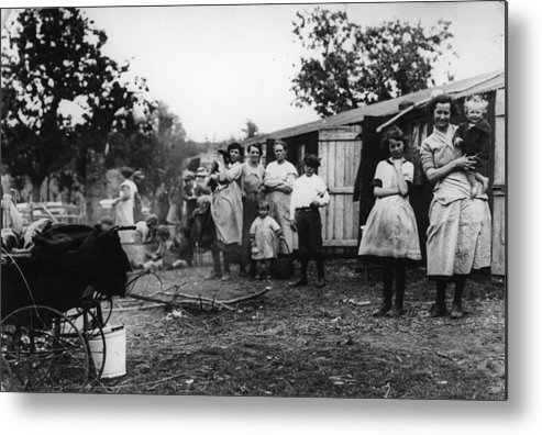 Camping Metal Print featuring the photograph Hop Camp by Hulton Archive