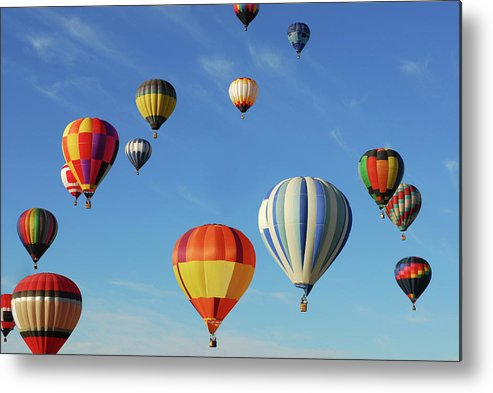 New Mexico Metal Print featuring the photograph Hot Air Balloons by Sjlayne