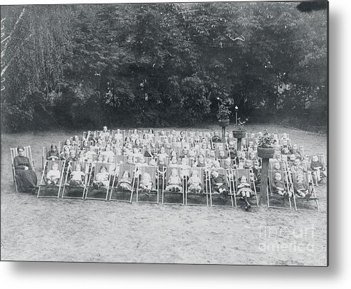 People Metal Print featuring the photograph Ill Children Resting At Camp by Bettmann