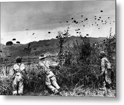 Parachuting Metal Print featuring the photograph Indo China by Keystone